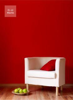 El color rojo, le aporta al espacio una luminosa y dinámica sensación. ¡Atrévete…