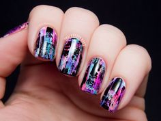 #Pink #Black #White #Purple #Designs #Nails