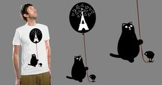 Cat . T shirts .   Has been closed for voting.  http://beta.threadless.com/profile/2262018/verna1413_dupe1/designs
