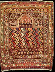 Caucasian Shirvan Marasali prayer rug, 19th C.