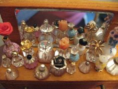 "Amy's Miniatures and Smalls / Lundby Doll Houses Plus Any House 3/4"" Scale: Tiny Perfume Bottles"