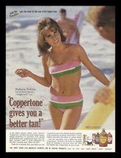 """1966 Coppertone Suntan Lotion """"Stefanie Powers"""" Vintage Photo Print Ad"""
