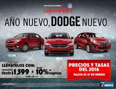 Adquiere tu #Dodge desde $ 1,599 o 10% de enganche