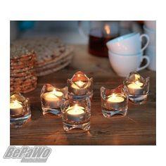 10 x IKEA VÄSNAS Kerzenhalter Teelichthalter Kerzenständer Teelichtgläser Glas