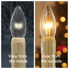 "Set of 2 replacement bulbs for cordless window candles. Only works with our ""Ultra Bright"" Christmas window candles, Adjustable, Bracket or Willamsburg Led Window Candles, Led Candles, Scented Candles, Mason Jar Gifts, Mason Jars, Williamsburg Christmas, Lava Lamp, Light Bulb, Glow"