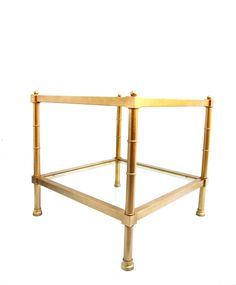 Vtg Hollywood Regency Gold Faux Bamboo Metal & by ElectricMarigold, $285.00