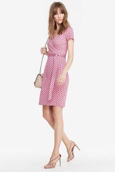 New Julian Two Short Sleeve Silk Jersey Wrap Dress | Landing Pages by DVF