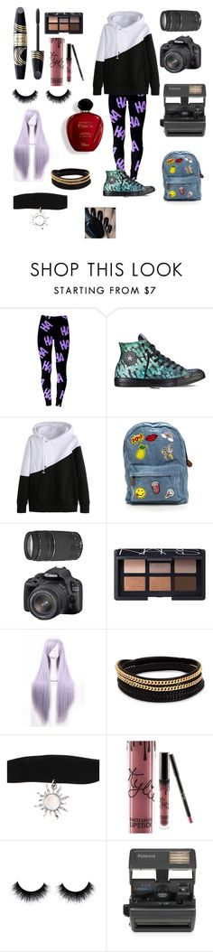 """""""Untitled #18"""" by kmedina0608 ❤ liked on Polyvore featuring Converse, Canon, Max Factor, NARS Cosmetics, Vita Fede, Kylie Cosmetics, Satine and Impossible"""