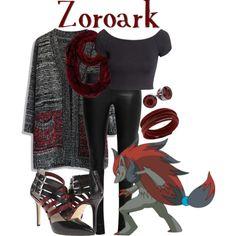 Zoroark! by miyu-san on Polyvore featuring Chicwish, H&M, The Row, MICHAEL Michael Kors, Swarovski, Henri Bendel, women's clothing, women's fashion, women and female