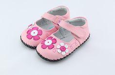 "Kids Got Sole - Freycoo ""Mia"" Pink Soft Sole Leather Shoes, $30.95 (http://www.kidsgotsole.com.au/freycoo-mia-pink-soft-sole-leather-shoes/)"