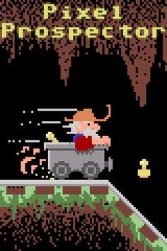 "PixelProspector Art ""Minecart Racer C64 Style"" by Zoltan Vigh"