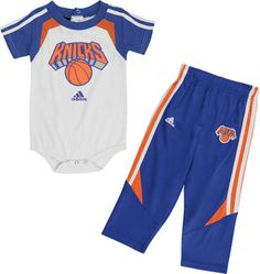 New York Knicks Infant Baby adidas Creeper and Pant Set New York Islanders, New York Knicks, New York Jets, New York Rangers, New York Giants, Sterling Grey, Brooklyn Nets, Creeper