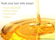 "DIY Honey Shampoo  ■Use only raw honey.  I recommend making it on a ""single serving"" basis, so just mix up a little bowl of the shampoo before you plan to use it. Here's the basic ratio, but you can adjust it as desired: 1 Tbs.  raw honey and 3 Tbs. filtered water. If necessary, slightly heat the mixture over very low heat to help dissolve the honey. Yes, this is really watery…"