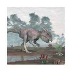 #Posters #Metal #Art - #Archaeoceratops dinosaur metal print