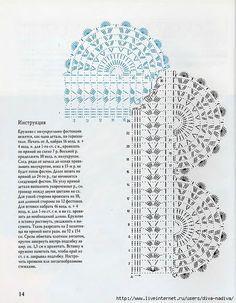 Artesanato com amor...by Lu Guimarães: Bicos em crochê com gráfico