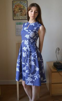 Lisette round trip dress (Simplicity 1419) by The girl who makes things (with SBA)