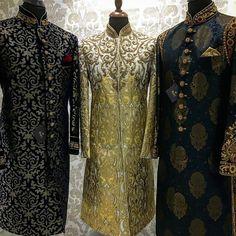 To order whatsapp us whatsapp on Sherwani For Men Wedding, Sherwani Groom, Mens Sherwani, Desi Wedding Dresses, Wedding Dress Men, Wedding Suits, Indian Men Fashion, New Mens Fashion, Men's Fashion