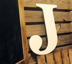 Large Letter J  24 inch Barn Wedding Sign   by ASimplePlaceOnMain