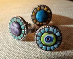 Mosaic rings, Nikki Sullivan Mosaics