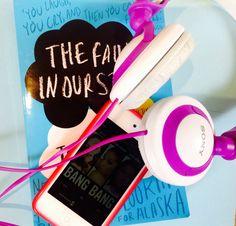Headphones with a POP of purple!