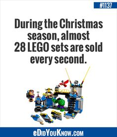 During The Christmas Season Almost 28 Lego Sets Are Sold Every Second Fun Factstrue