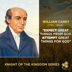 THE HONEYCOMB KNIGHTS OF THE KINGDOM SERIES WILLIAM CAREY https://www.facebook.com/honeycombdailydevotional/photos/a.783016655159700.1073741828.779882162139816/827006777427354/?type=3&theater …