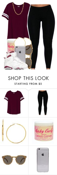 """""""Nicki Minaj Too Real For Me"""" by babygirlslayy ❤ liked on Polyvore featuring Victoria's Secret PINK, Kinky-Curly, Illesteva and Fremada"""