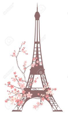 vector torre eiffel rosa - wallpaper