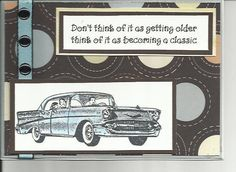 masculine card ideas | classic car masculine Birthday card by cardcapers on Etsy