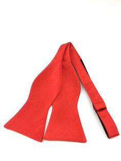 Solid Red Self Tied Bowtie Red Colour Palette, Red Color, Ties Online, Formal Tie, Bowties, Simple Colors, Wedding Men, Groomsmen, Gentleman
