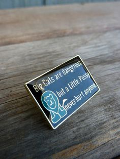 Sexy themed enamel pin featuring the quote Big by OatesGeneral
