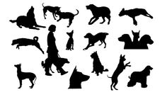 Dog silhouettes - Free Vector Site | Download Free Vector Art, Graphics