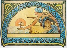 Alphonse and Maria Mucha, Water Lily.