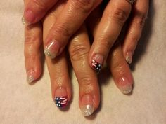 4th of July nail!