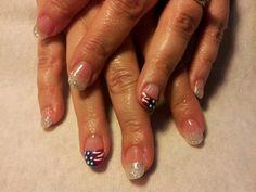 4th of July nail!