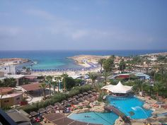 View from Hotel Tasia Marias across Nissi bay,Cyprus