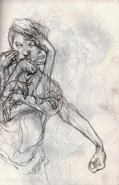 Drawing by Philipp Banken Life Drawing, Figure Drawing, Drawing Sketches, Painting & Drawing, Art Drawings, Sketching, Sketchbook Inspiration, Art Sketchbook, Timberwolf