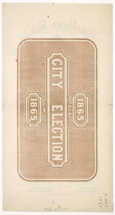 City election 1865
