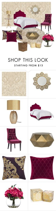 """Untitled #36"" by reetta-v on Polyvore featuring interior, interiors, interior design, home, home decor, interior decorating, Era Home, Armen Living, Croscill and Madison Park"