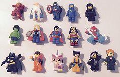 Lego Movie set of 16 - Shoe Croc Charms/Wristband Bracelet /Cake Toppers/Jibbitz