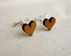 Boutons de manchette - boutons de manchette mariage - boutons de manchette en bois - mariage rustique - découpé au laser en bois boutons de manchette - anniversaire de 5 ans - marié boutons de manchette