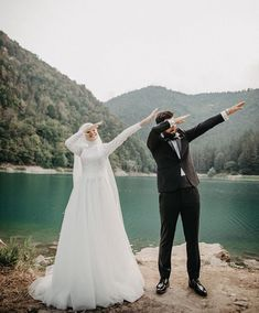 Image may contain: 1 person, standing, wedding, outdoor and nature Hijabi Wedding, Muslimah Wedding Dress, Muslim Wedding Dresses, Muslim Brides, Wedding Photography Poses, Couple Photography, Fashion Photography, Gothic Wedding, Dream Wedding