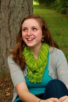 """Hand knit """"Peridot"""" Lace Sequined Cowl - $44.00"""