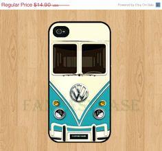 ON SALE Mini Bus VW Volkswagen Teal - iPhone 4 , iPhone 4s , iPhone 5 Case , Galaxy S3 , Galaxy S2 i9100 , Galaxy Note2 , iPhone Case. $12.90, via Etsy.