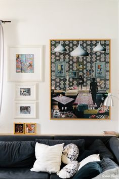 Athina Vlachaki - Artist Portraits in Skopelos Greece Skopelos Greece, Home Studio, Beautiful Homes, Gallery Wall, Portraits, Artist, Travel Destinations, Photography, Interiors