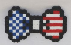 8-bit american flag hair bow - available on therubypig.com