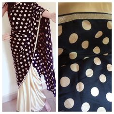 Black satin polka dots saree  No COD ❌ Bank transfer only✅ DM for price   #saree #sareelover #Ethniclover #Cotton #Designer #ethnic #nimeetelegance #Instock