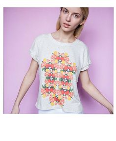 UltraTee Speckled t-shirt Tulips