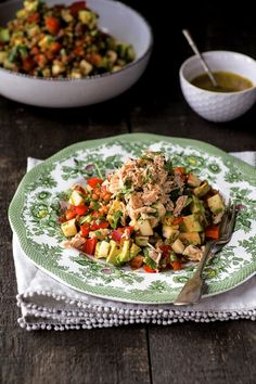 Salade de thon, lentilles et avocats | K pour Katrine A Food, Good Food, Yummy Food, Unique Recipes, Ethnic Recipes, Summer Fresh, Kung Pao Chicken, Bruschetta, Meal Prep