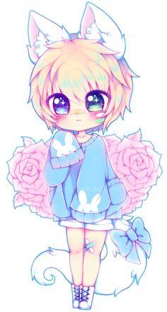 Chibi Neige by nekogirl-san on DeviantArt Anime Neko, Kawaii Anime Girl, Cute Anime Chibi, Cute Anime Pics, Kawaii Chibi, Anime Girls, Anime Art, Anime Girl Drawings, Cute Kawaii Drawings